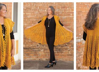 Pineapple Drop Cardigan Crochet Pattern