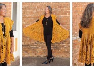 Pineapple Drop Cardigan Crochet Pattern