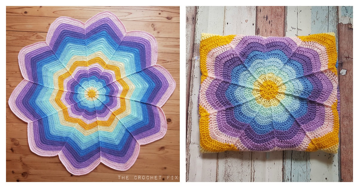 Flower Blanket Free Crochet Pattern