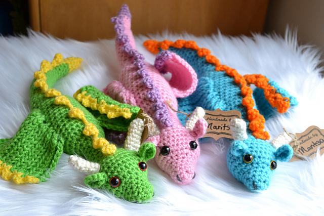 Spring Dragon Free Crochet Pattern