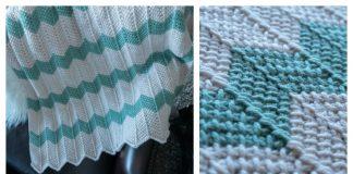 Tunisian Chevron Baby Blanket Free Crochet Pattern
