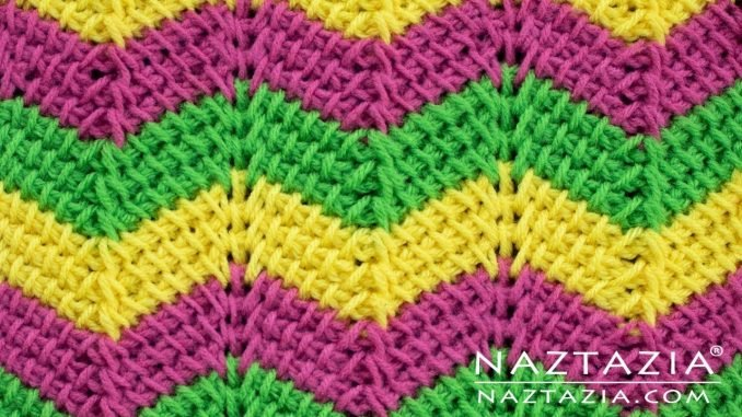 Tunisian Ripple Stitch Blanket Free Crochet Pattern Cool Creativities