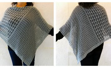 Wrapped Pearl Poncho Free Crochet Pattern