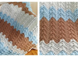 Antigua Ripple Lace Blanket Free Crochet Pattern