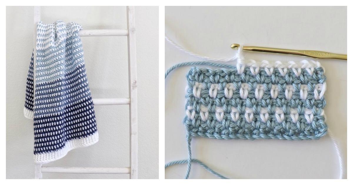 Moss Stitch Baby Blanket Free Crochet Pattern