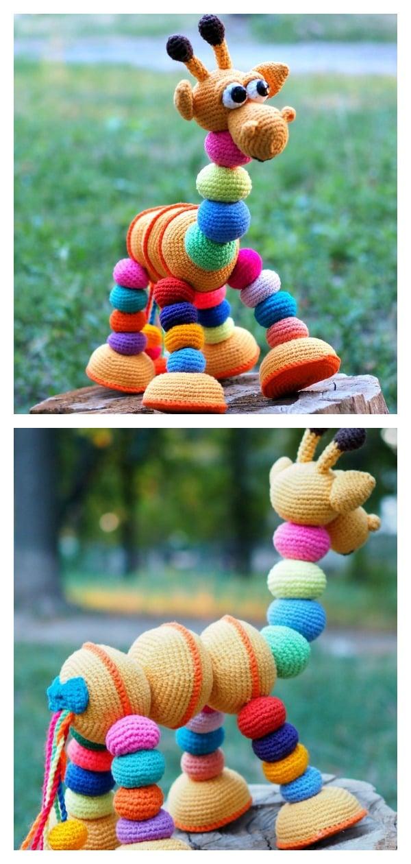 Crochet Amigurumi Giraffe Toy