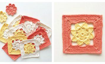 Easy Flower Squares Free Crochet Pattern