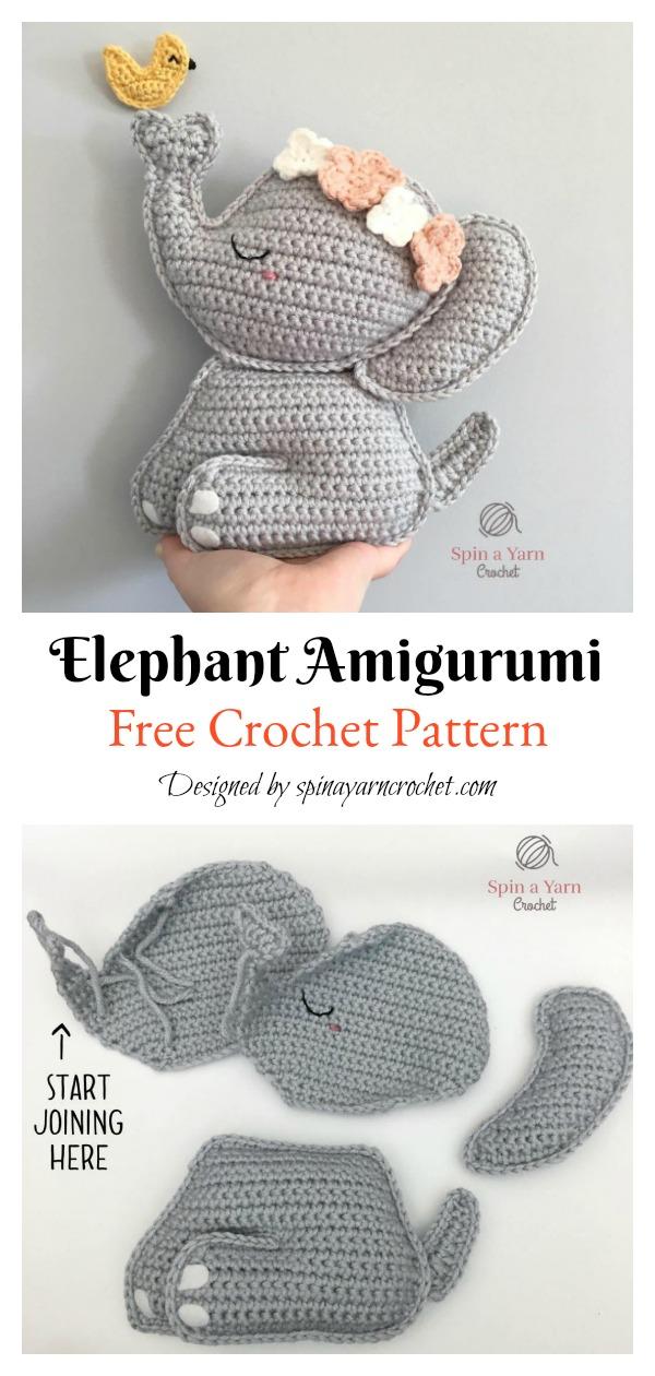 Elephant Ragdoll Amigurumi Free Crochet Pattern