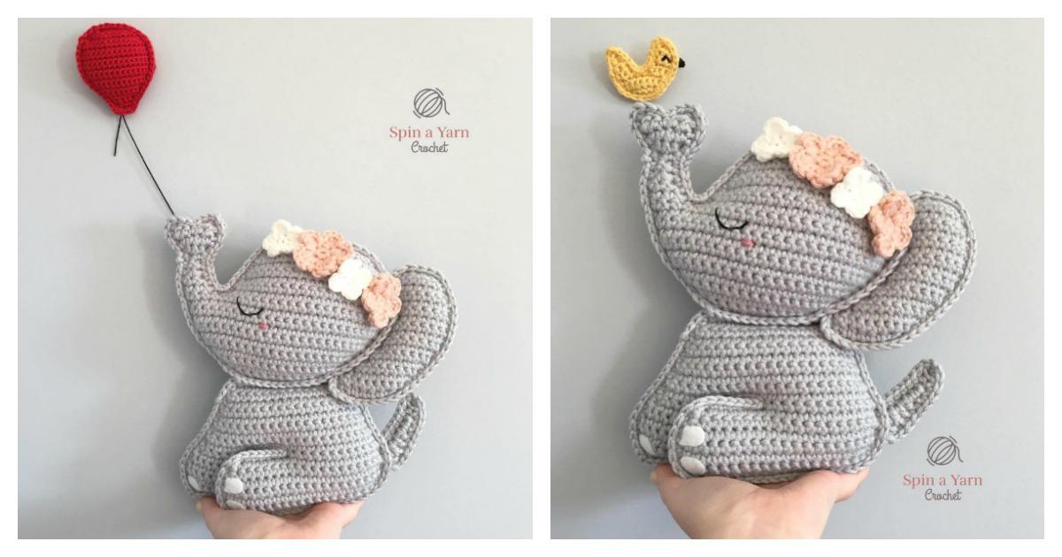 Esther the Elephant Free Amigurumi Pattern | Jess Huff | 630x1200