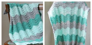 Feather and Fan Baby Blanket Free Crochet Pattern and Video Tutorial