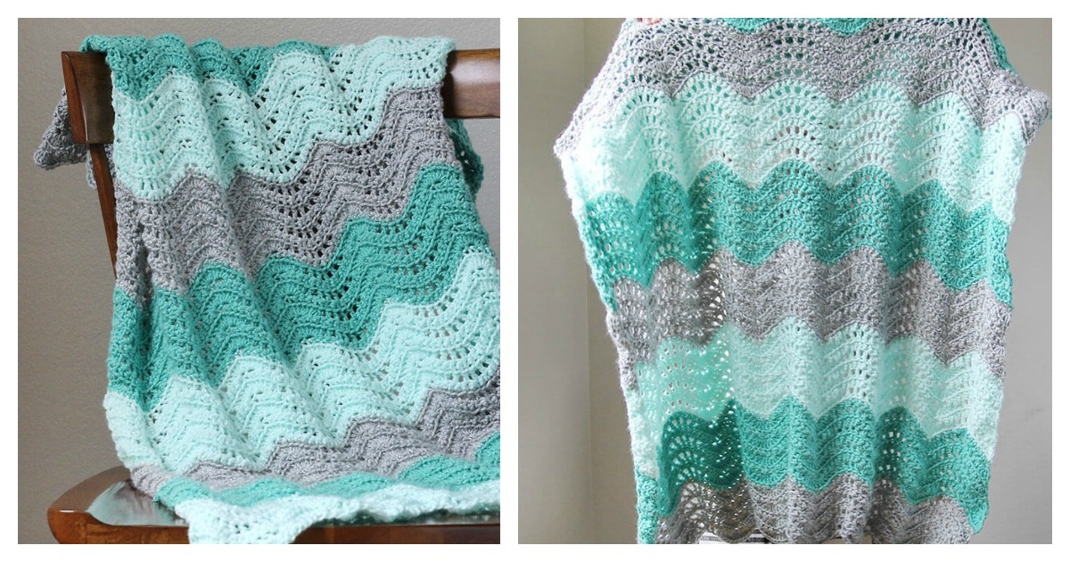 Feather And Fan Baby Blanket Free Crochet Pattern And