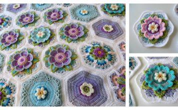 Frida's Flowers Blanket Free Crochet Pattern