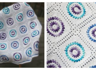 Grape Hyacinth Blanket Free Crochet Pattern