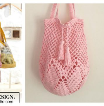 Hummingbird Market Tote Bag Free Crochet Pattern