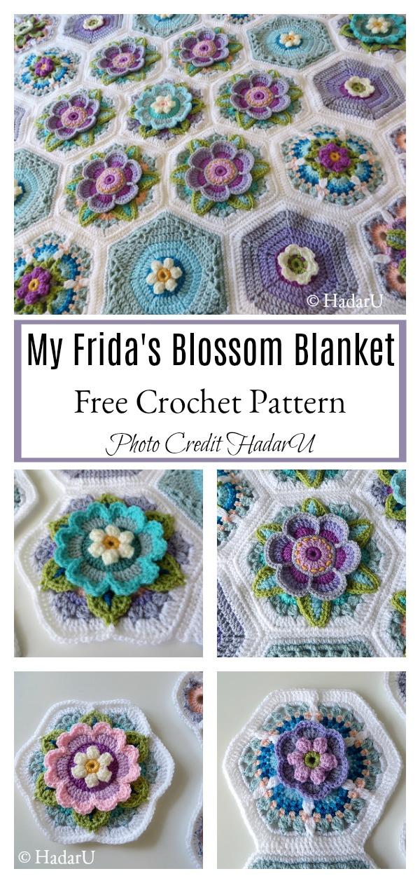My Frida's Blossom Blanket Free Crochet Pattern