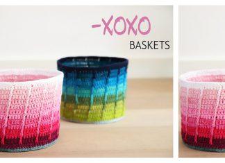 Ombre XOXO Basket Free Crochet Pattern