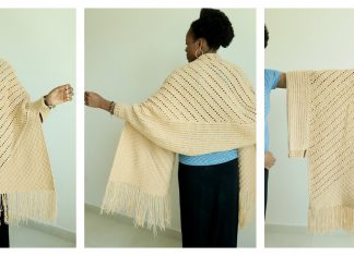 Reversible C2C Prayer Wrap Free Crochet Pattern