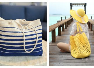 Shell Stitch Beach Tote Bag Free Crochet Pattern