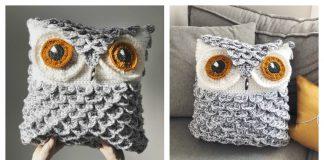 Snowy Owl Pillow Free Crochet Pattern