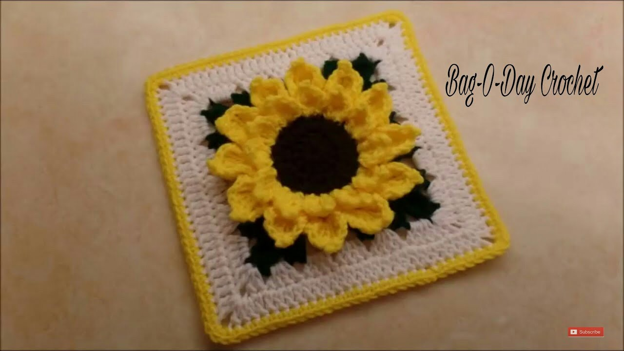 Sunflower Granny Square Video Tutorial