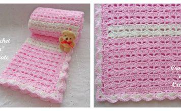 Sweetheart Baby Blanket Free Crochet Pattern