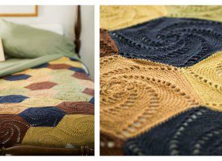 Swirled Hexagons Blanket Free Crochet Pattern