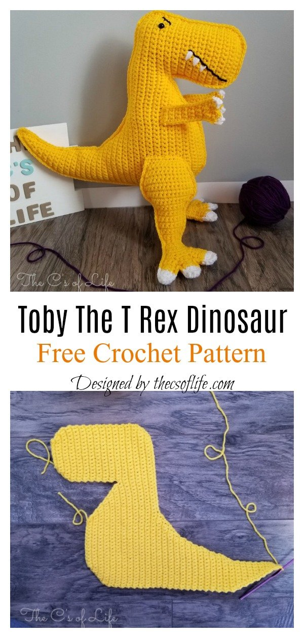 Toby The T Rex Dinosaur Free Crochet Pattern