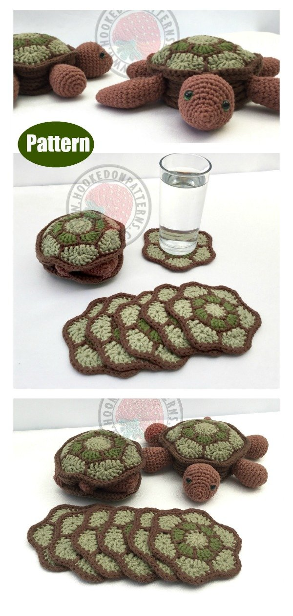 Turtle Coaster Sets Crochet Pattern