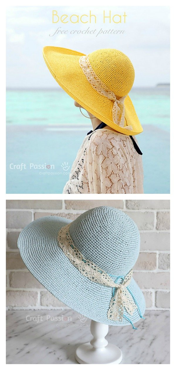 Wide Brim Sun Hat Free Crochet Pattern