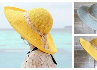 Wide Brim Sun Hat Free Crochet Pattern