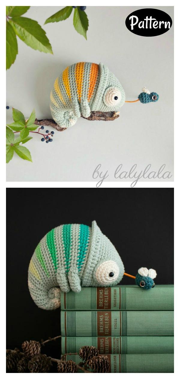 Amigurumi Chameleon Crochet Pattern