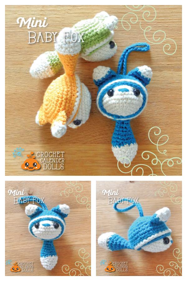 Amigurumi Mini Fox Keychain Free Crochet Pattern