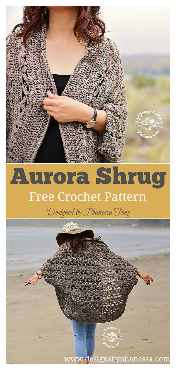 Aurora Lace Shrug Free Crochet Pattern