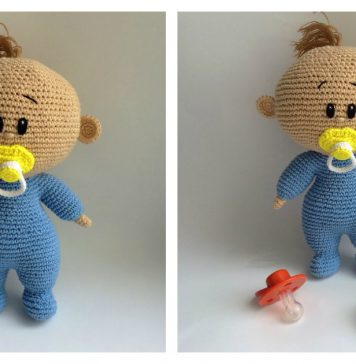 Amigurumi Baby with Dummy Free Crochet Pattern