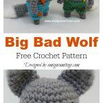 Big Bad Wolf Inspired Fathead Amigurumi Plush Doll Baby Big   Etsy   150x150