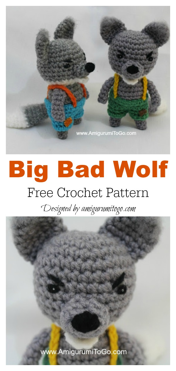 Big Bad Wolf Amigurumi Free Crochet Pattern