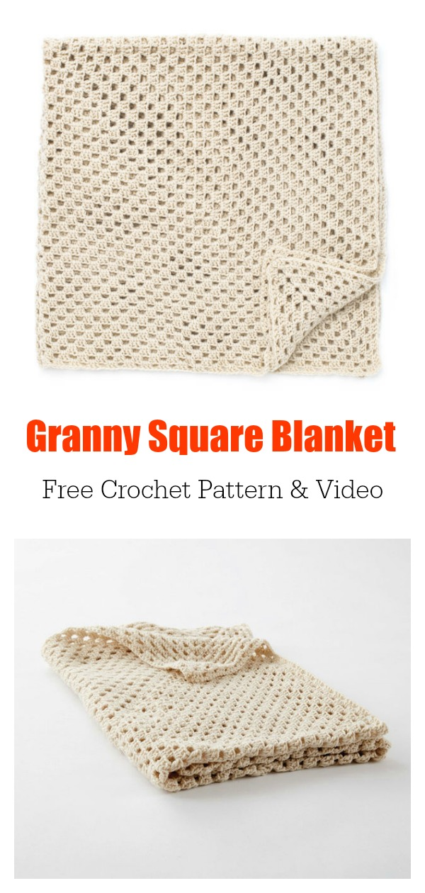 Classic Granny Square Blanket Free Crochet Pattern