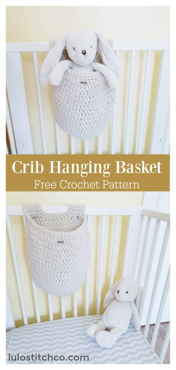 Crib Hanging Basket Free Crochet Pattern