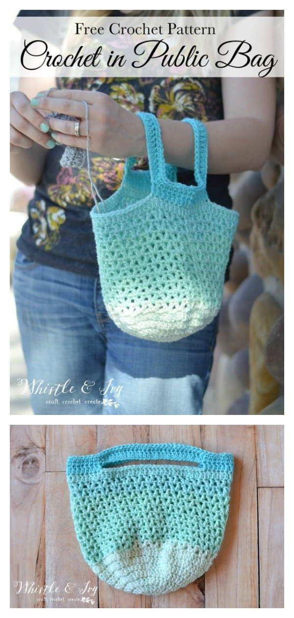 Crochet in Public Bag Free Crochet Pattern