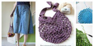 Easy Net Market Bag Free Crochet Pattern and Video Tutorial