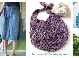 Easy Net Market Bag Free Crochet Pattern and Video Tutorial