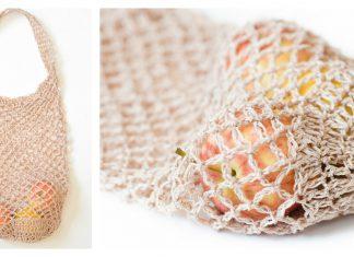 Easy Net Market Bag Free Crochet Pattern