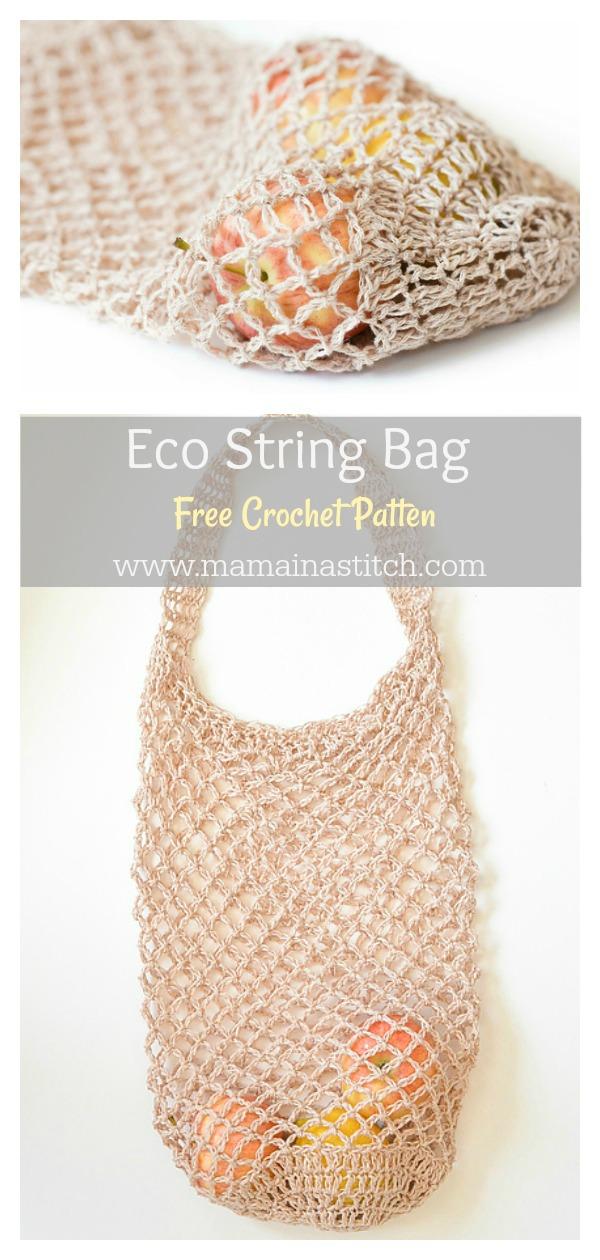 Eco String Market Bag Free Crochet Pattern