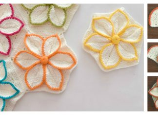 How to Crochet Hexagon 3D Flower Motif