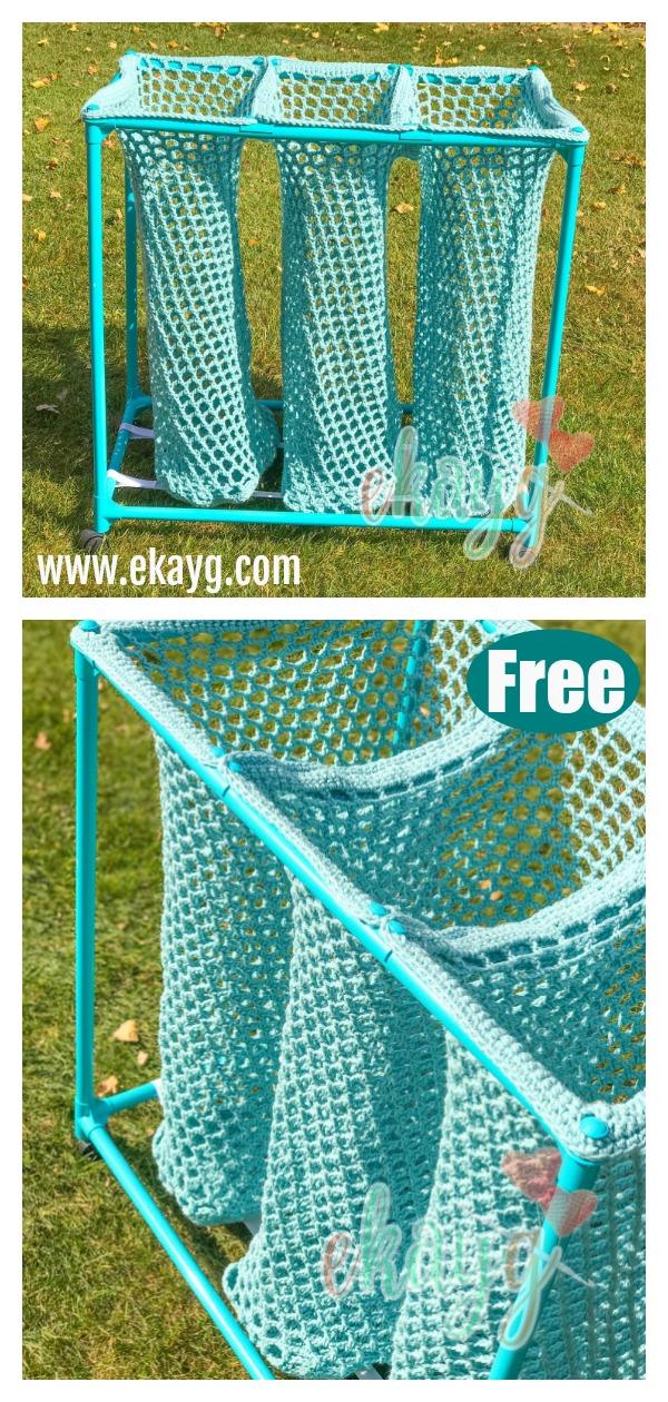 Laundry Sorter Bag Free Crochet Pattern