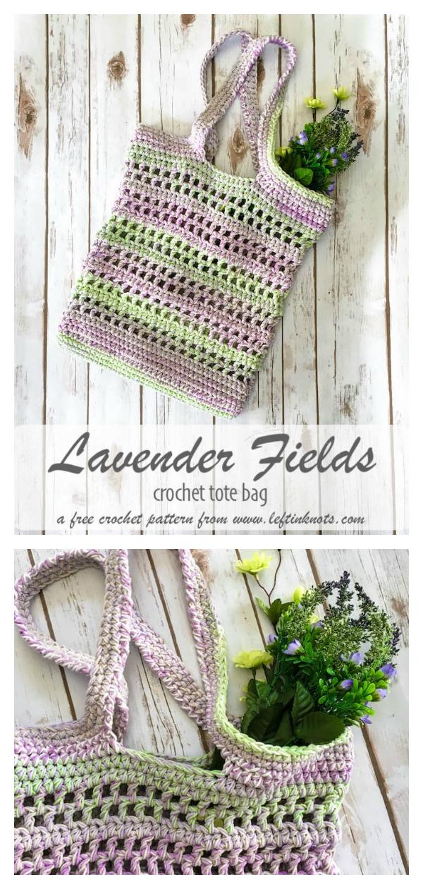 Lavender Fields Market Bag Free Crochet Pattern