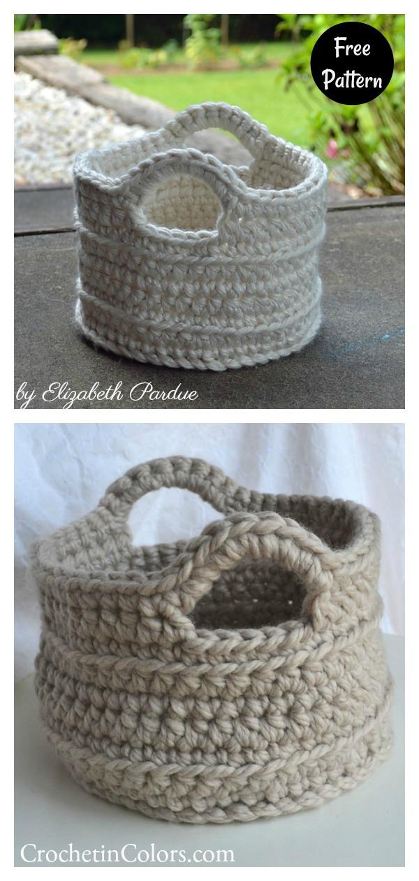 Little Chunky Basket Free Crochet Pattern
