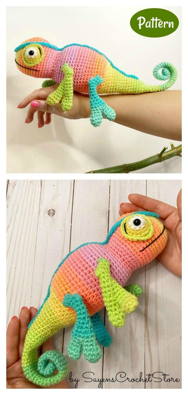 Marco the Chameleon Crochet Pattern