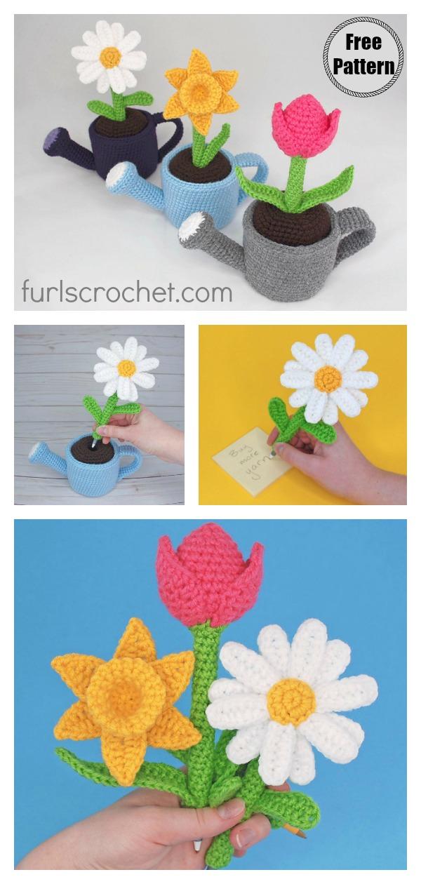 May Flowers Pen Amigurumi Free Crochet Pattern
