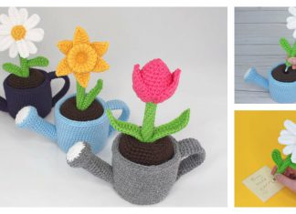 May Flowers Pen Amigurumi Free Crochet Pattern